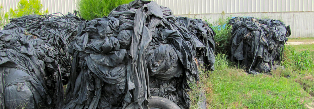 Black mulch film - no tire NCAG Plastics | Waste Reduction Partners